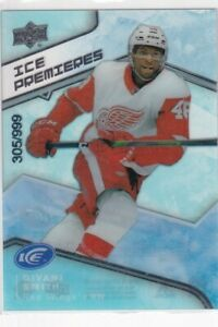 2019-20 UPPER DECK ICE PREMIERES ROOKIE #65 RED WINGS - GIVANI SMITH /999