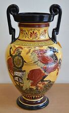 Achilles - Poseidon & Goddess Athena - Amphora Vase - Museum Replica