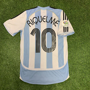 2006 Argentina Riquelme Adidas Jersey Home Small S FIFA World Cup Shirt Kit 10