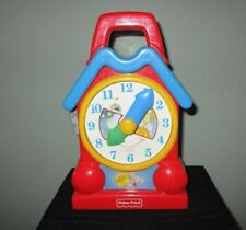 Vintage 1994 Fisher Price Musical Wind-up Teaching Time My Grandfather Clock Toy