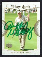 Duffy Waldorf #148 Victory March signed autograph auto 2001 Upper Deck Golf Card