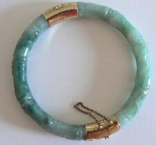 Vintage Estate Natural Jadeite Bangle  A Grade Jade Round Cut Very Translucent