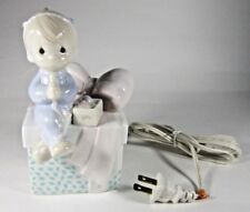 Enesco Precious Moments May Your Christmas Be Delightful Boy Present Night Light