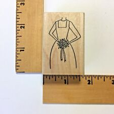 Savvy Rubber Stamp - Bride with Bouquet 801E - NEW