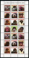 Surinam 2009 Affen Monkeys Wildtiere Animals 2336-2344 ZD-Bogen Postfrisch MNH