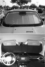 Heat Shield Silver Sun Shade Fits 2015-2016 Jeep Renegade w/o Mirror Camera Opt.