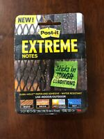 """Post-It Extreme Water-Resistant Self-Stick Notes Multi-Colored, 3"""" x 3"""", 3 Pads"""
