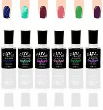 UV-Nails Lot of 6 UV LED Gel Polish Bottles Salon Quality 15mL UV6-005