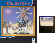 """THE SETTLERS :  floppy disc 3,5"""" Commodore Amiga backup game disk (READ)"""