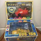 Nikko RC Sub 168 Radio Control Submarine Yellow For Parts w/Box