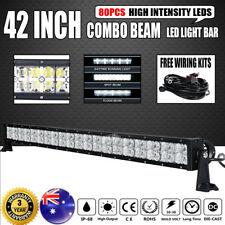 """42""""inch LED Light Bar Spot Flood Combo Offroad Driving Truck 4X4 4WD 42""""+Wire AU"""