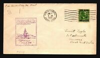 Canal Zone 1929 FFC FAM 5 to Dutch West Indies / Light Creasing - Z17547