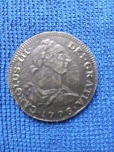 CAROLUS CHARLES III DEI GRATIA 1776 SILVER COIN