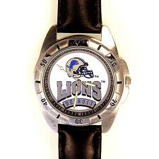 Detroit Lions NFL, Fossil New Unworn, Men's Vintage 1995 Leather Band Watch! $79