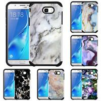 Marble Design Hybrid Case for Samsung Galaxy J7 (2017) Perx Halo Prime Sky Pro