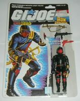 1988 GI Joe Cobra Iron Grenadiers Trooper v1 Figure w/ File Card Back *Complete