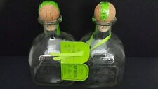 Beadshine Lot of 2 Empty Silver Patron Tequila Bottles Hand Blown Hand Bottling
