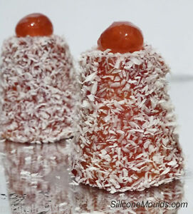 8 cell English Madeleine Dariole Silicone Bakeware Cake Mould Mold Tin Pan Cone
