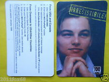 telefonkarten 1998 phone cards 100 units leonardo di caprio cartes de telephone