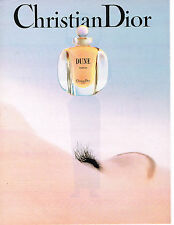 PUBLICITE ADVERTISING 0314   1992   DIOR   parfum femme Dune