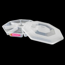 Plastic Nibbles Tray with lid 8 Storage Sections party food Large Octagonal new