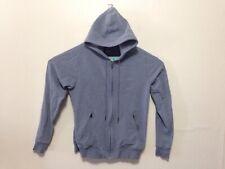 MACK WELDON Blue Full Zip Hoodie Sweatshirt Cotton/Spandex Size Small I176