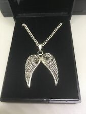 Job Lot 20 Silver Plated Necklaces 18inch & Angel Wings Pendants with gift box