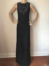 NWT St John Knit Gown size 8 black shimmer tweed