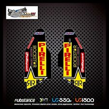 Suzuki RMZ 250 450 10-15 Rockstar Lower Fork Yellow Decal Sticker MX (514)