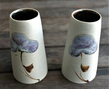 HENRY and JENNIFER HACKENBERGER PAIR OF AUSTRALIAN POTTERY BEAKERS