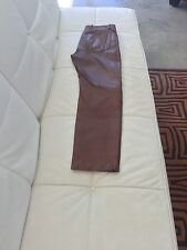 Dolce and Gabbana Men's leather pants.Brown. Size M
