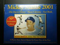 NY Yankees 2001 Mickey Mantle This Day History Photo Calendar Fact Book Sealed