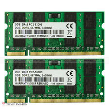 New 4GB 2x2GB PC2-5300 Memory For DELL LATITUDE D520 D531 D630 D830 E6400 E6500