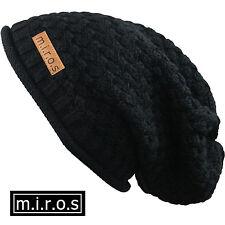 MUJER LARGA Gorro Nicky negro / hecho a Mano Gorro de invierno de M. I. r.o.s