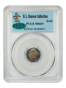 1832 H10c PCGS/CAC MS65+ ex: D.L. Hansen - Early Half Dimes - Original Gem!