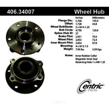 Wheel Bearing and Hub Assembly-Premium Hubs Front Centric 406.34007