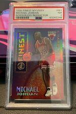 1995 FINEST MYSTERY MICHAEL JORDAN BORDLESS GOLD REFRACTOR #M1 PSA 7 - POP 13