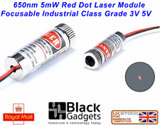 650nm 5mW Red DOT Laser Module Focusable Industrial Class Grade 3V 5V red dot