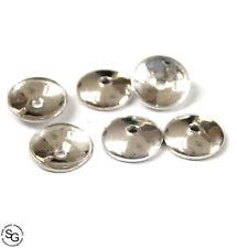10 Stück Halblinsen 8 mm rund 925 Silber Schmuckzubehör