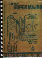 Fordson Super Major New Performance Instruction Manual