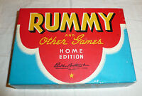 Vintage 1942 Rummy Home Edition by Parker Brothers COMPLETE Card Game