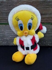 Warner Bros Looney Tunes Plush Tweety Bird Santa Claus Stuffed Animal Toy