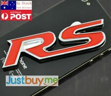 Universal Thick RS Car Metal Chrome Emblem Badge Decal Sticker Black or Red 9cm