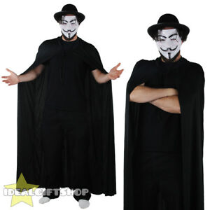 ANONYMOUS ONE FANCY DRESS COSTUME MASK PROTEST HACKER HALLOWEEN GUY FAWKES NIGHT