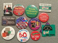 New listing Lot of (12) Vintage Wal-Mart Advertising Pinback Buttons Lot 4