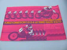 Original 1973 Harley Davidson Race Poster Terre Haute Rex Beauchamp Mert Lawwill