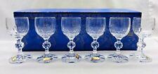 Bohemian Glass from Czechoslovakia – Boxed Set of 6 Vintage Stemware Glasses