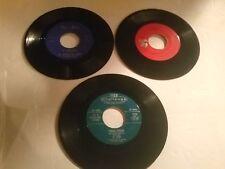 """3 Rare Tex Mex 45 RPM 7"""" Singles Los Bravos Del Norte Hermanos Barron El Clod"""