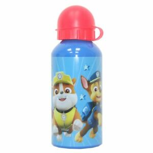 Alu-Trinkflasche Team   Paw Patrol   Blau Rot 400 ml   Sport-Aluminium-Flasche