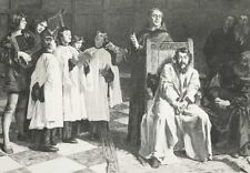 Crazy Dutch Painter HUGO VAN DER GOES CHOIR BOYS SING ~ 1877 Art Print Engraving